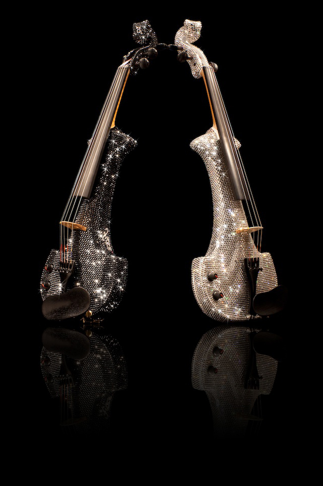 Corporate event entertainment - The Swarovski Fuse crystal violins